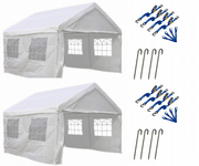 4m x 4m PE Grade Commercial Party Tent Marquee + Tie Downs (Qty 2)